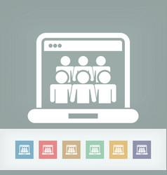 social network concept icon vector image