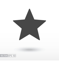 Star flat Icon Sign Star logo for web design vector image