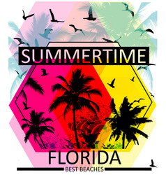 summer graphic tee vector image