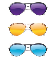 Sunglasses Icons vector image