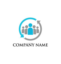 teamwork business concept logo vector image