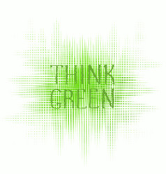 Think green concept logo design vector