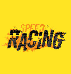 tire moto racing lettering vector image