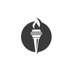 torch logo icon design vector image