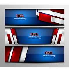 USA Color Banner Design vector image