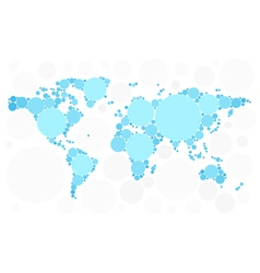 World map of blue bubbles vector