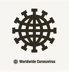 worldwide coronavirus covid19 19 icon vector image