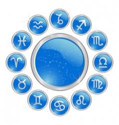 zodiac button vector image