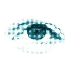 Blue color human digital eye vector image