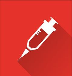 Hypodermic needle icon vector