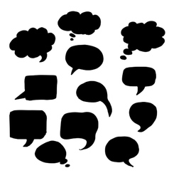 message or chat icon or bubble vector image