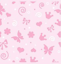 pattern for little girls for textiles vector image vector image