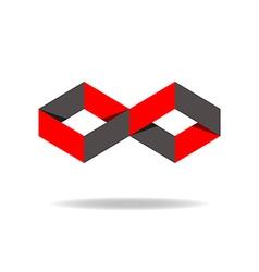 Red and black rhombus logo creative design vector