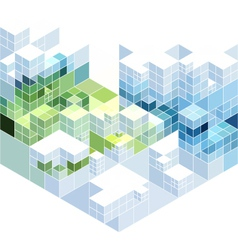 Abstract cubic background vector