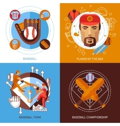 Baseball Concept Icons Set vector image vector image