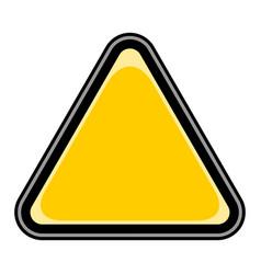 blank sign triangular sticker vector image