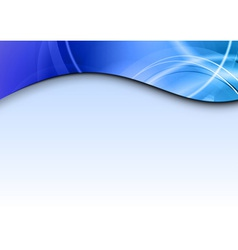 blue wave backgroun on the light vector image vector image
