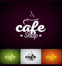 coffe cup logo design template set of cofe shop vector image vector image