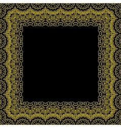 Decorative frame border pattern vector image