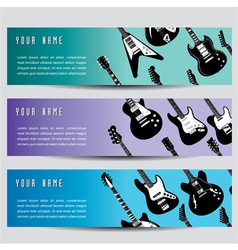 guitar banners vector image vector image