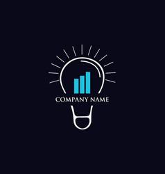 idea finance growth logo vector image