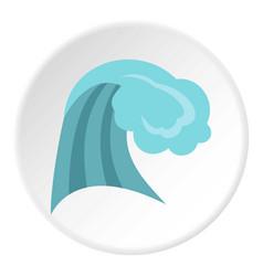 ocean wave icon circle vector image vector image