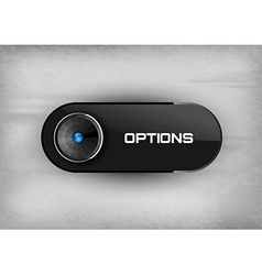 Options Button vector image vector image