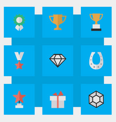 set of simple champion icons vector image vector image