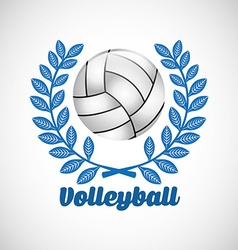 Volleyball club design vector