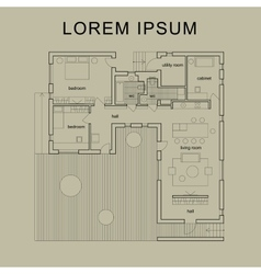 Architectural house plan vector image vector image