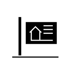 billboard icon black sign on vector image