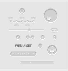 dark web ui elements vector image vector image