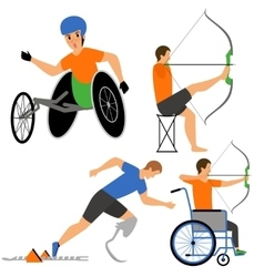 Disabled People in sport competition vector image vector image