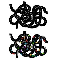 Junction of higway vector image