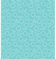 Seamless blue floral pattern vector image vector image
