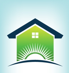 Solar House Logo vector image vector image