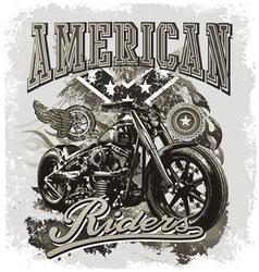 hot rod american riders vector image vector image