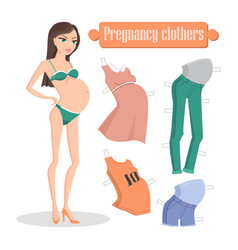 pregnancy clothers banner vector image vector image