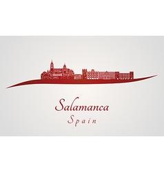 Salamanca skyline in red vector image