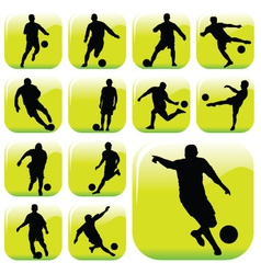 soccer players vector image