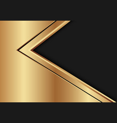 Abstract gold black arrow direction on dark vector