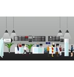 Airport terminal concept vector