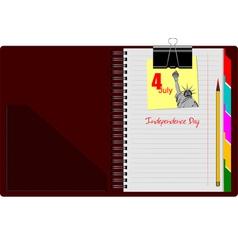 al 0808 notebook 01 vector image