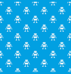 Android robot pattern seamless blue vector