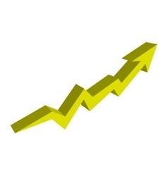 Arrow up growth icon vector