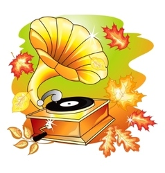 Autumn music vector