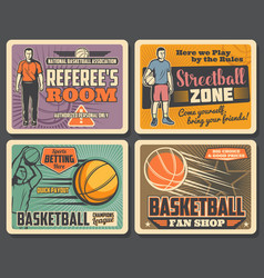 basketball sport club streetball tournament vector image
