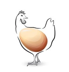 Best chicken egg design vector