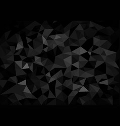 black crystalline polygonal background vector image