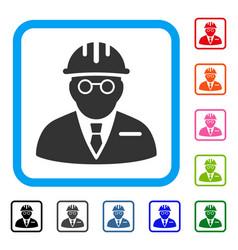 Blind engineer framed icon vector
